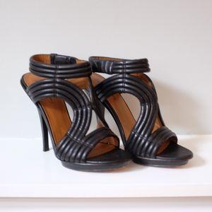 Elizabeth and James Black Strappy Heels